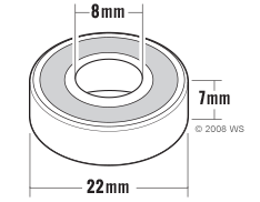 Skateboard Bearings Size