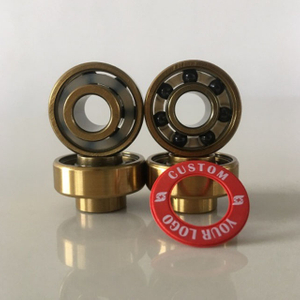 Kingsk8 Gold Titanium Coating Built-in Si3N4 Ceramic Skateboard Bearings