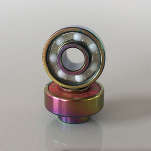 Kingsk8 Colorful Titanium Coating ZrO Ceramic Built-In Longboard Bearings