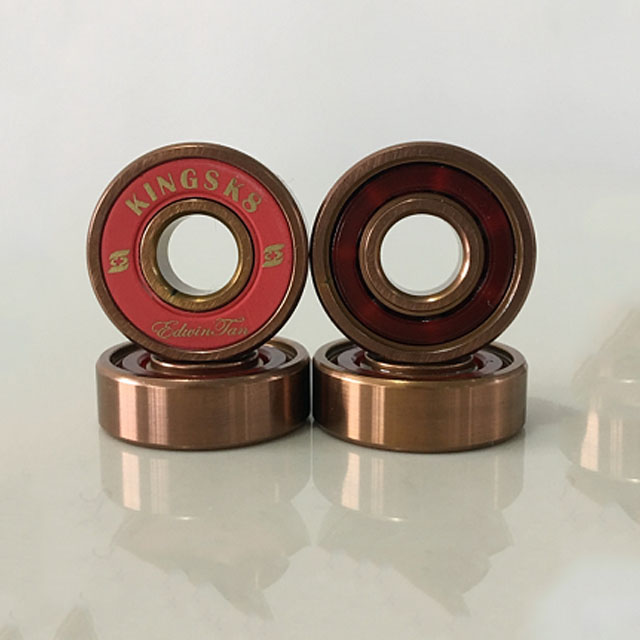 Kingsk8 Rose Gold Titanium Coating Skateboard Bearings