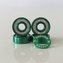 Kingsk8 Green Anodized Coating ZrO Ceramic Skateboard Bearings