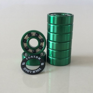 Kingsk8 Green Anodized Si3N4 Ceramic Skateboard Bearings