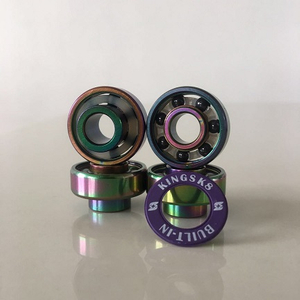 Kingsk8 Colorful Titanium Coating Built-in Si3N4 Ceramic Skateboard Bearings