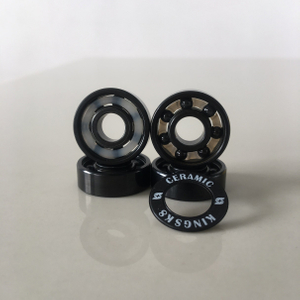 Kingsk8 Black Titanium Coating Si3N4 Ceramic Skateboard Bearings