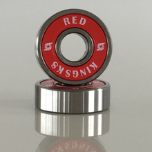 Kingsk8 Red Skateboard Bearings 608RS