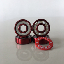 Kingsk8 Red Anodized Coating ZrO Ceramic Skateboard Bearings