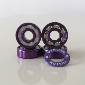 Kingsk8 Purple Anodized Super Skateboard Bearings