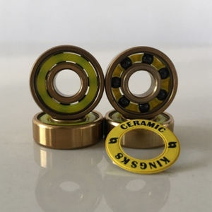 Kingsk8 Gold Titanium Coating Si3N4 Ceramic Skateboard Bearings